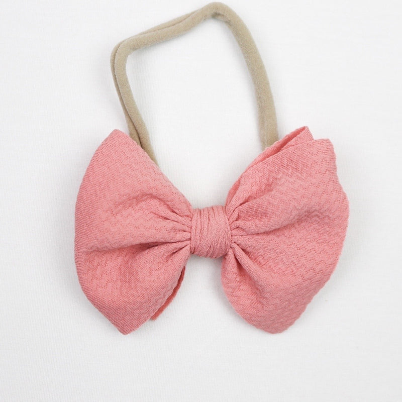 Little Lopers French Rose Skinny Bow (One Size)