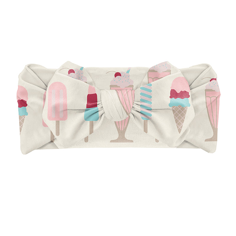 Bow Headwrap - Natural Ice Cream Shop (0-24 mos)