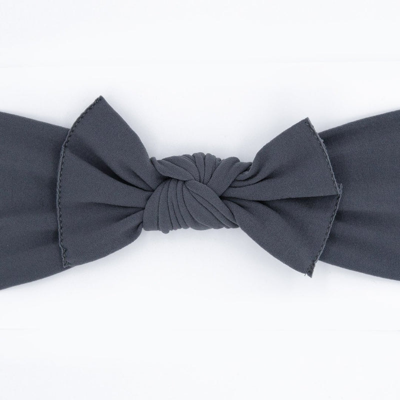 Knot Bow, Charcoal (0 - 6 months)