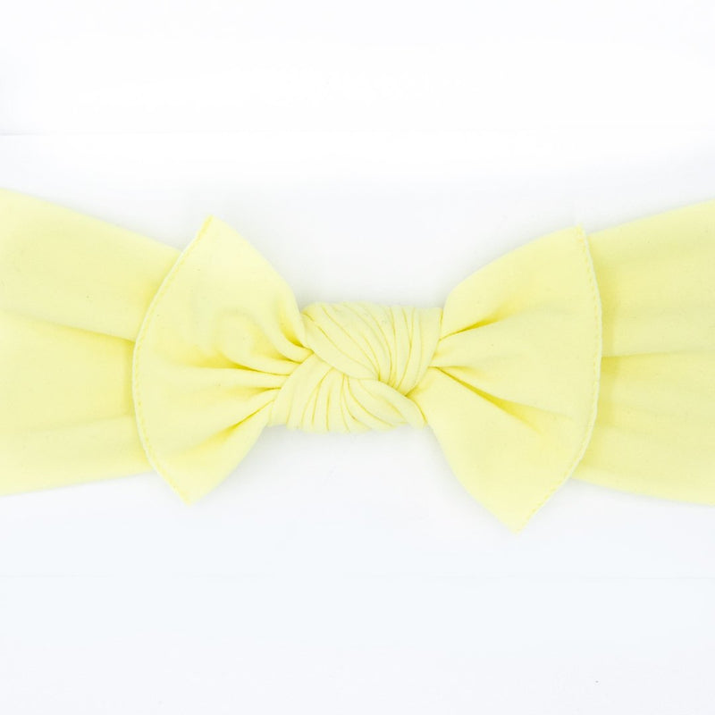 yellow baby bow