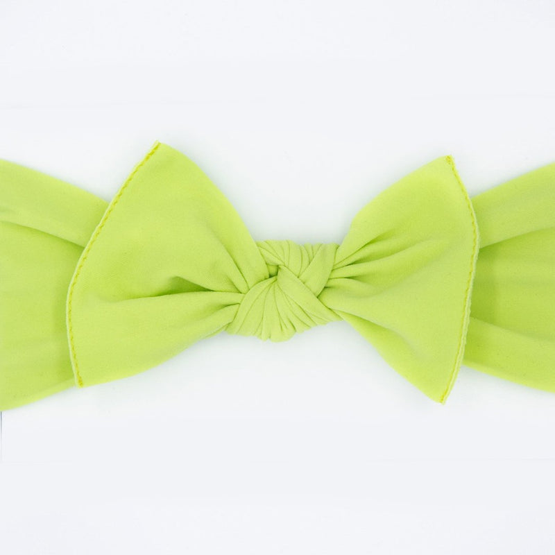 Knot Bow, Lime (0 - 6 months)