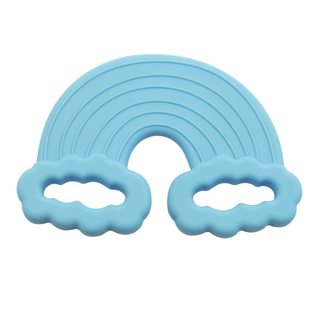 rainbow blue teether