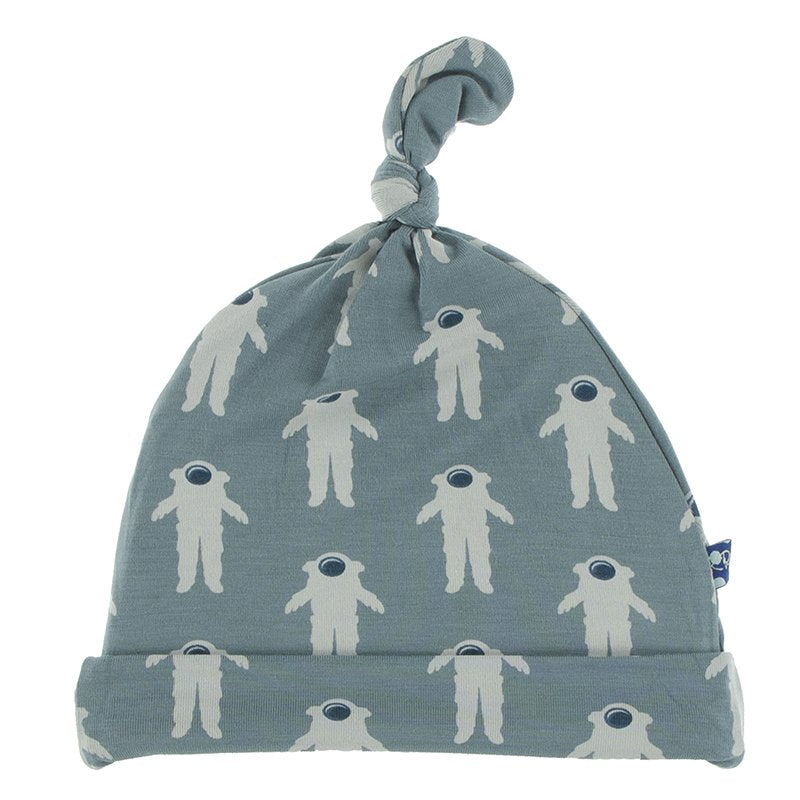 Knot Hat, Dusty Sky Astronaut (NB - 3 mos)