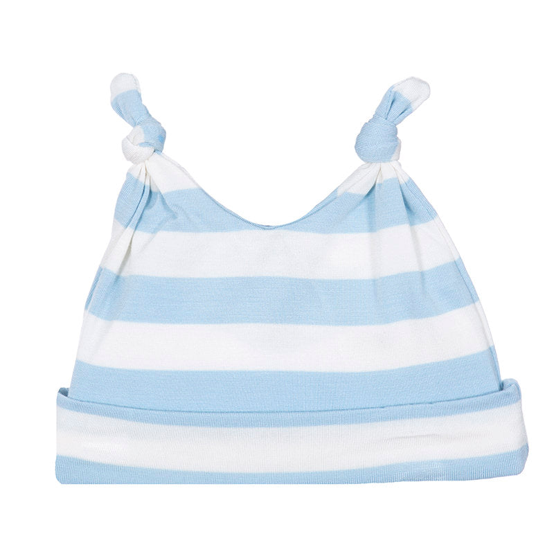 baby blue stripe hat