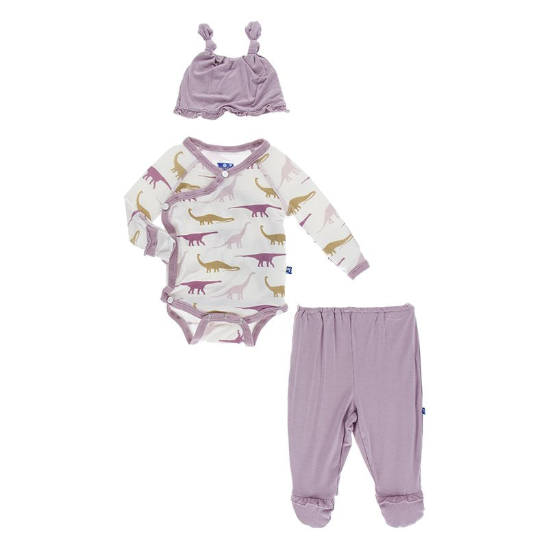 purple dinosaur kickee pants
