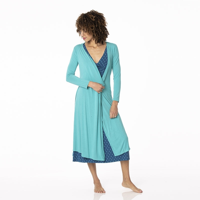 kickee teal robe