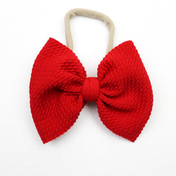 Little Lopers Red Skinny Bow (One Size)