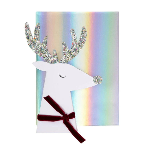 Reindeer Head Greeting Card