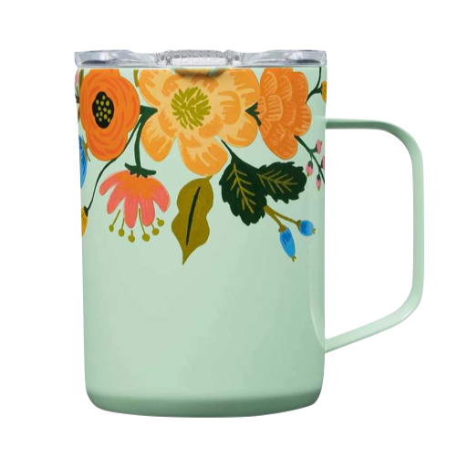 Corkcicle Coffee Mug - Mint Floral