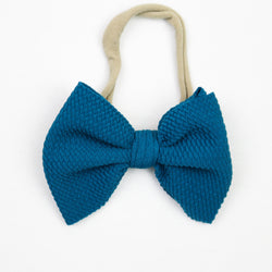 Little Lopers Teal Skinny Bow (One Size)