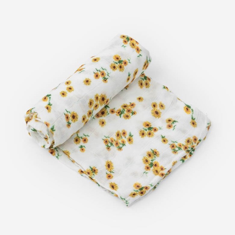 sunflower baby swaddle