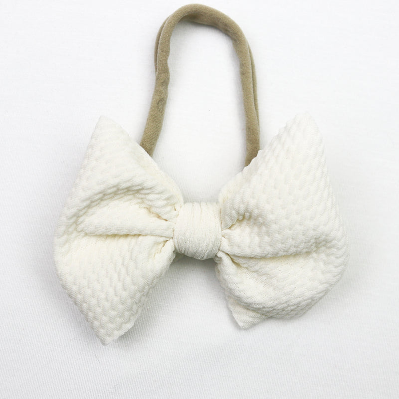 Little Lopers Vanilla Skinny Bow (One Size)