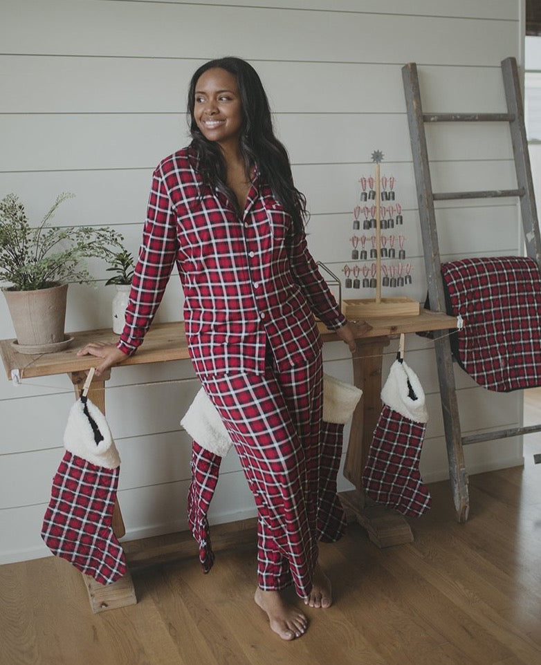 kickee plaid pjs