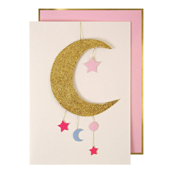 Baby Moon Mobile Greeting Card