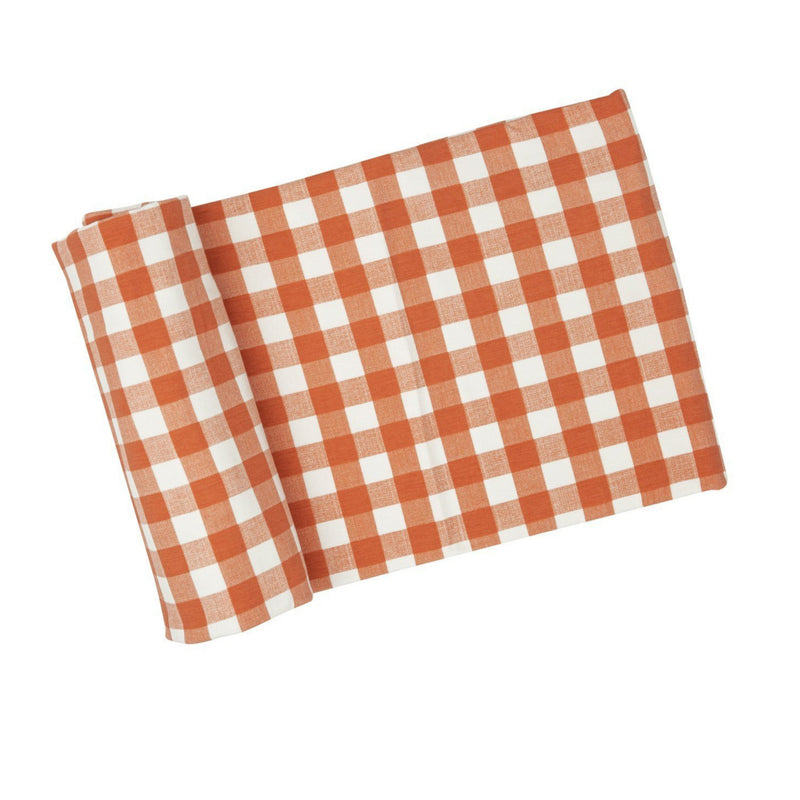 orange checkered blanket