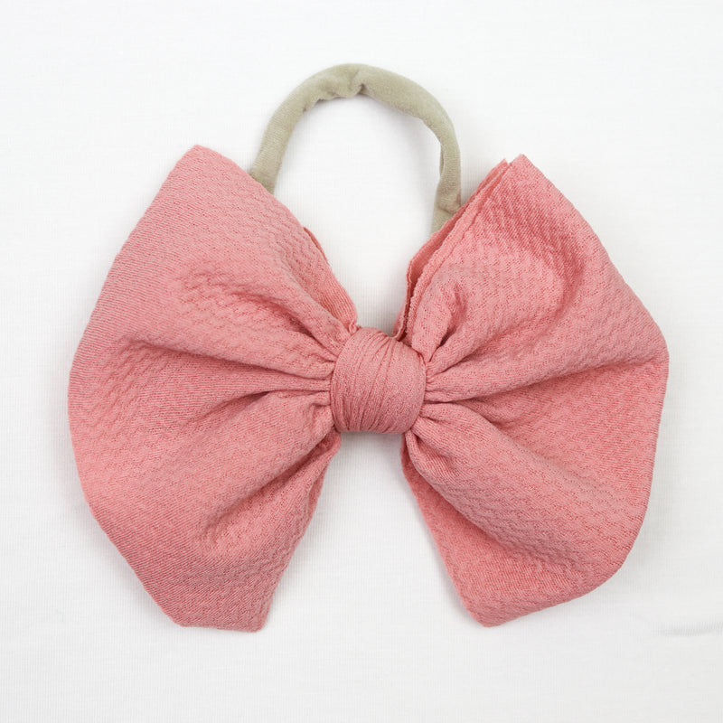 Little Lopers French Rose Big Bow (One Size)