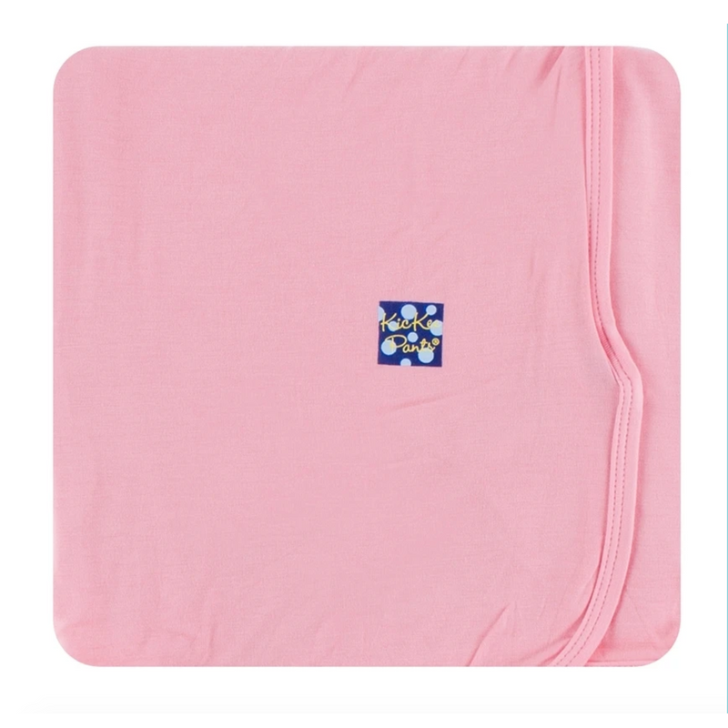 pink Kickee Pants swaddle