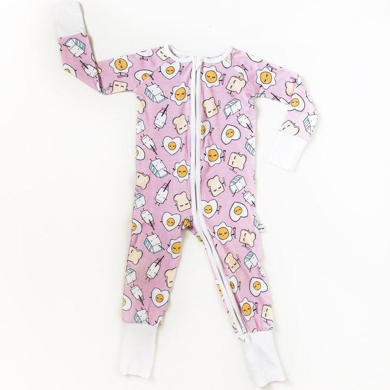 pink little sleepies romper
