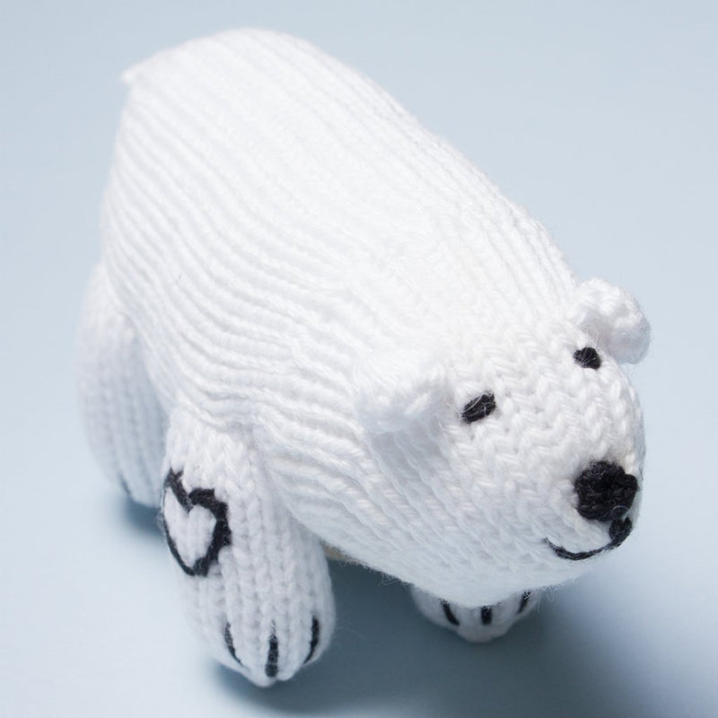 Polar bear rattle