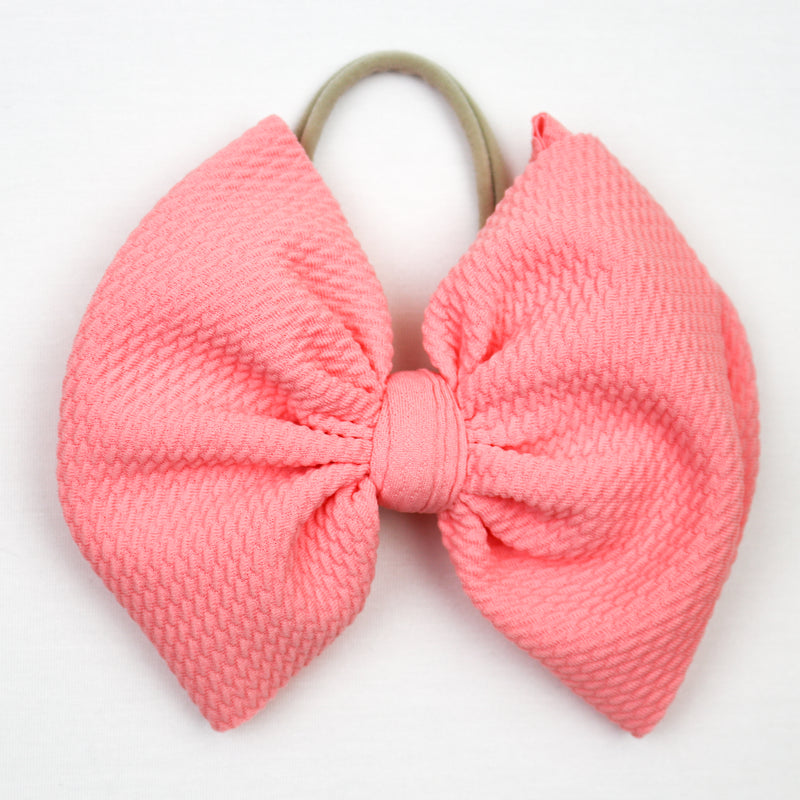Little Lopers Sunny Pink Big Bow (One Size)