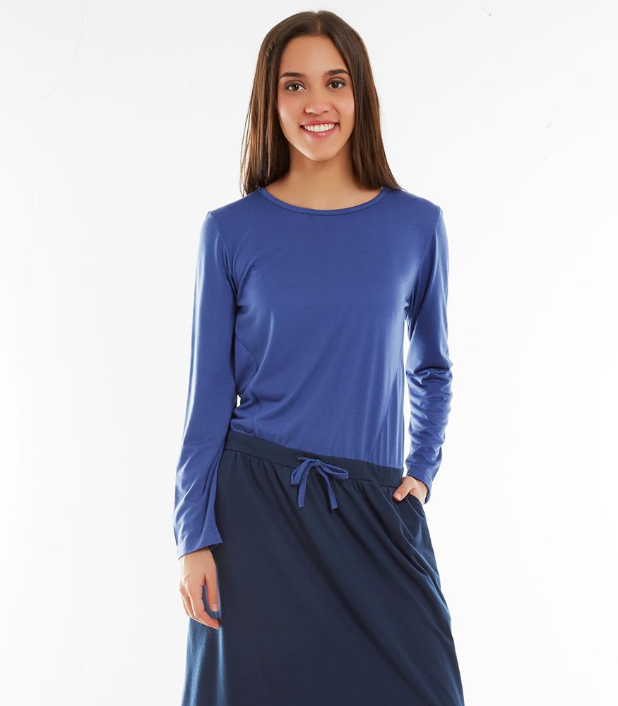 * Réf.125674* DALILA DRESS BLUE L (PROMO)
