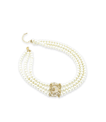 * Réf.152335* JENEVA NECKLACE PEARL (PROMO)