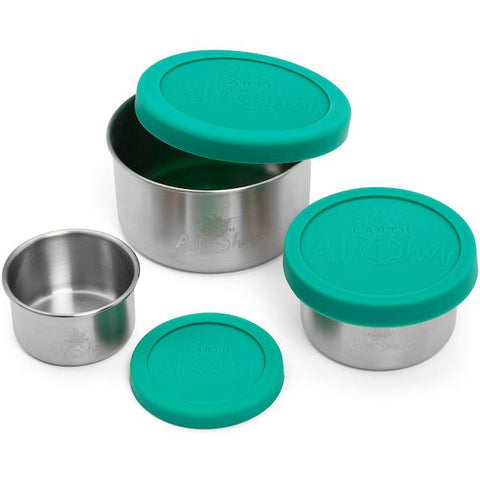 3 Mini Stainless Containers (set Of 3)