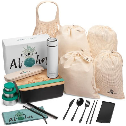 Zero Waste Bamboo Lunch Kit (20 Pieces)