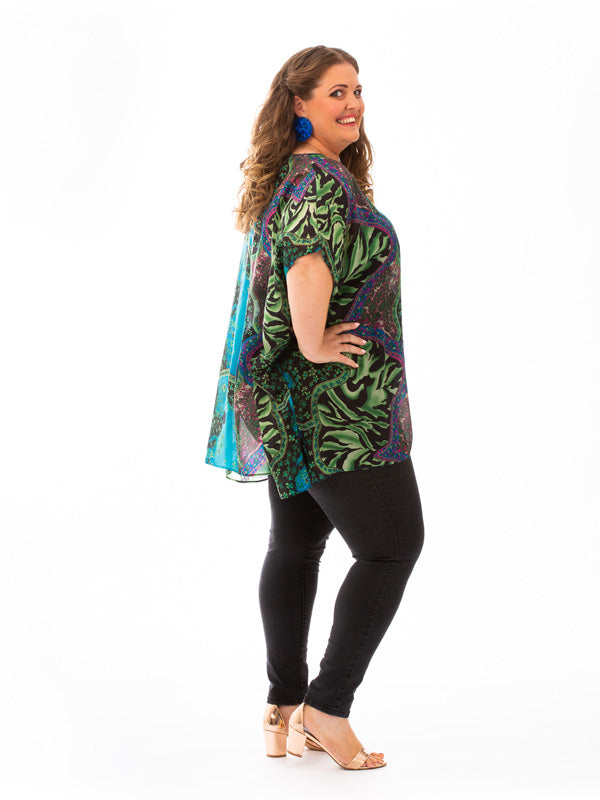 Dress To Impress, Molokai Short Silk Kaftan, Laloom Kaftans