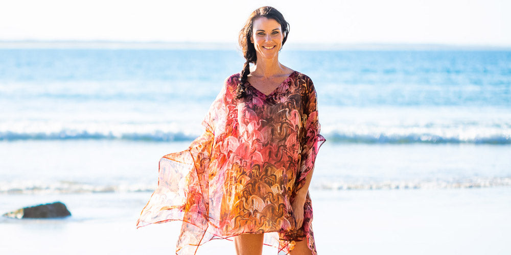 Fashion Style Tips For Summer, Sunset Beach Kaftan Dress, Laloom Kaftans