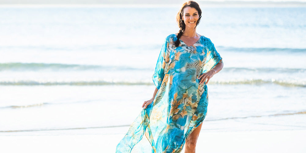 How To Dress For  Formal Occasion, Kekaha Beach Long Kaftan Dress, Laloom Kaftans