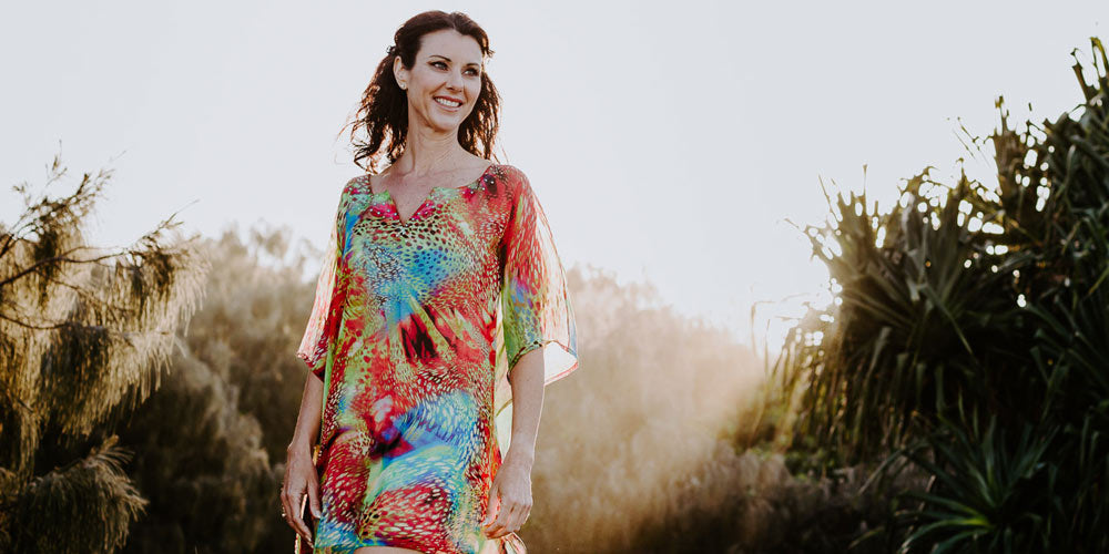 Kaftan Dresses & Cocktail Dresses, Antibes Short Kaftan Dress, Laloom Kaftans