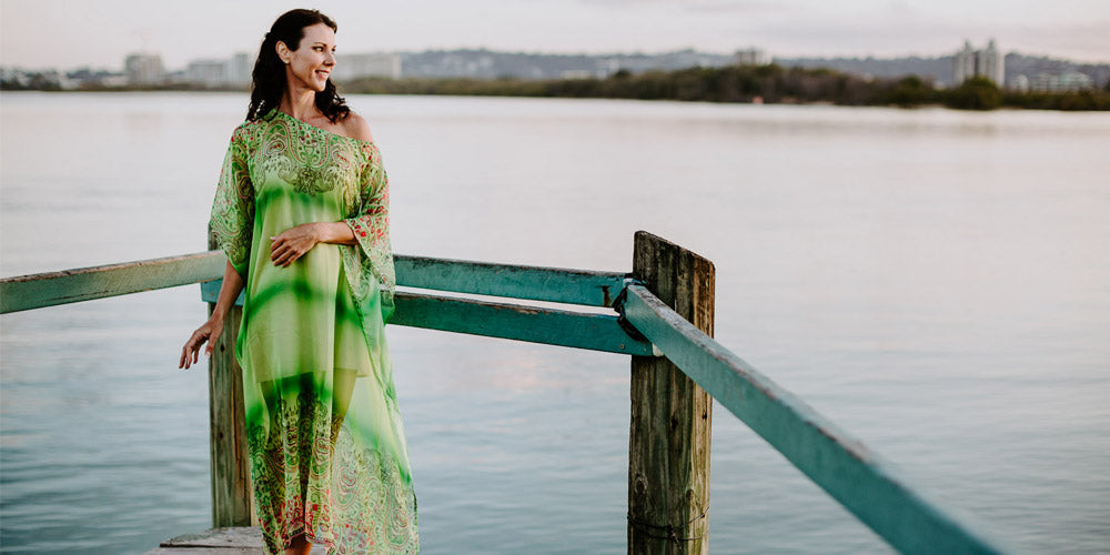 Kaftans To Look Great, Bondi Beach Long Kaftan Dress, Laloom Kaftans