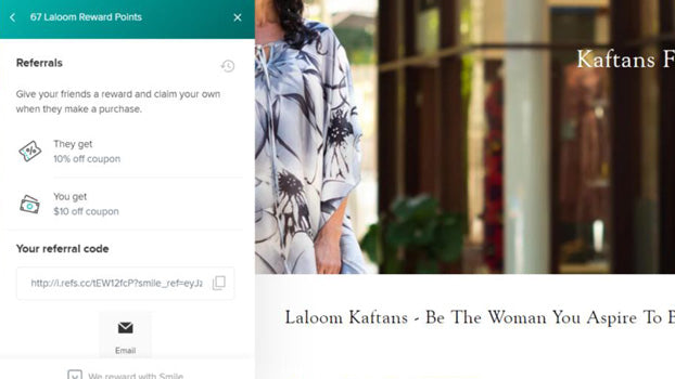 Refer Your Friends, Laloom Rewards Program, Laloom Kaftans