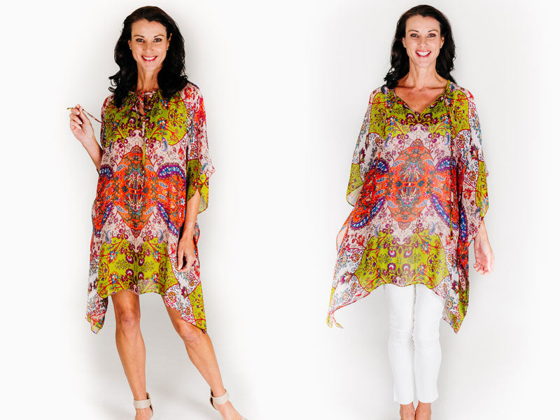 What Should You Wear Under A Kaftan, Pampelonne Beach Short Kaftan, Laloom Kaftans