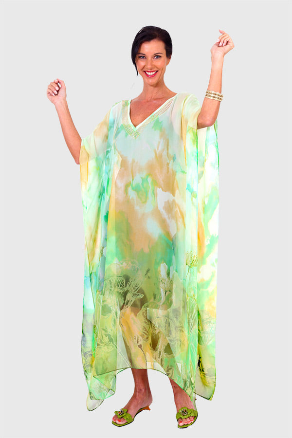A Wish & A Hope long kaftan dress in chiffon