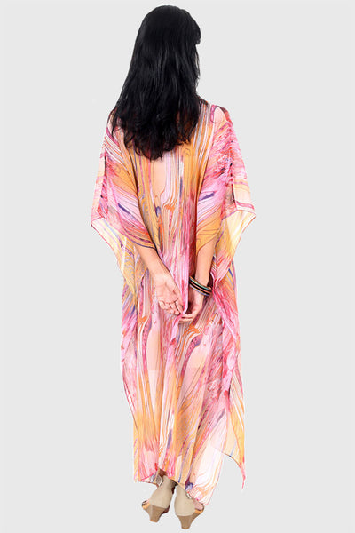 Dance Love Sing Live chiffon long kaftan dress