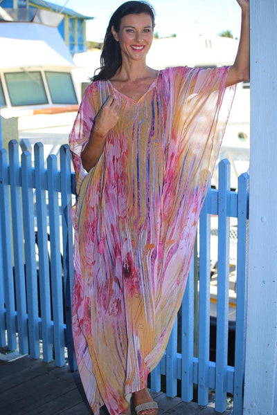 Dance Love Sing Live chiffon long kaftan