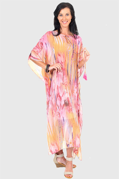 Dance Love Sing Live kaftan in chiffon