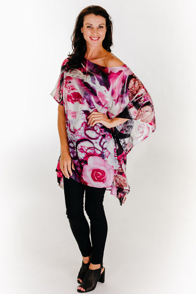 Dreamtime Beach short kaftan in silk