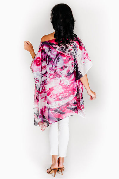 Dreamtime Beach silk kaftan