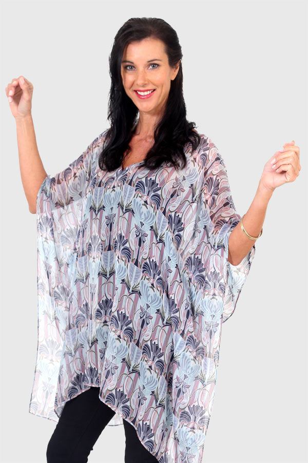 Endless Love short kaftan dress in silk