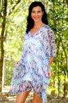 Endless Love silk short kaftan dress