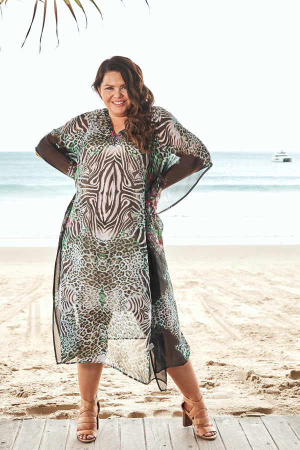 Gaia Long Kaftan Dress, Laloom Kaftans