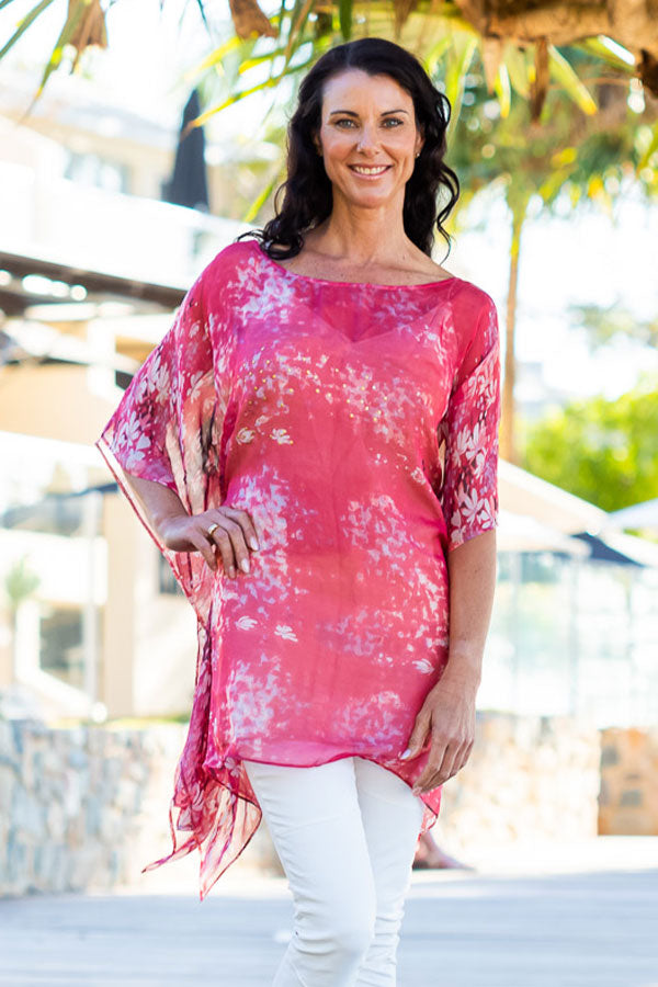 Honolua Bay Silk Kaftan Dress, Laloom Kaftans