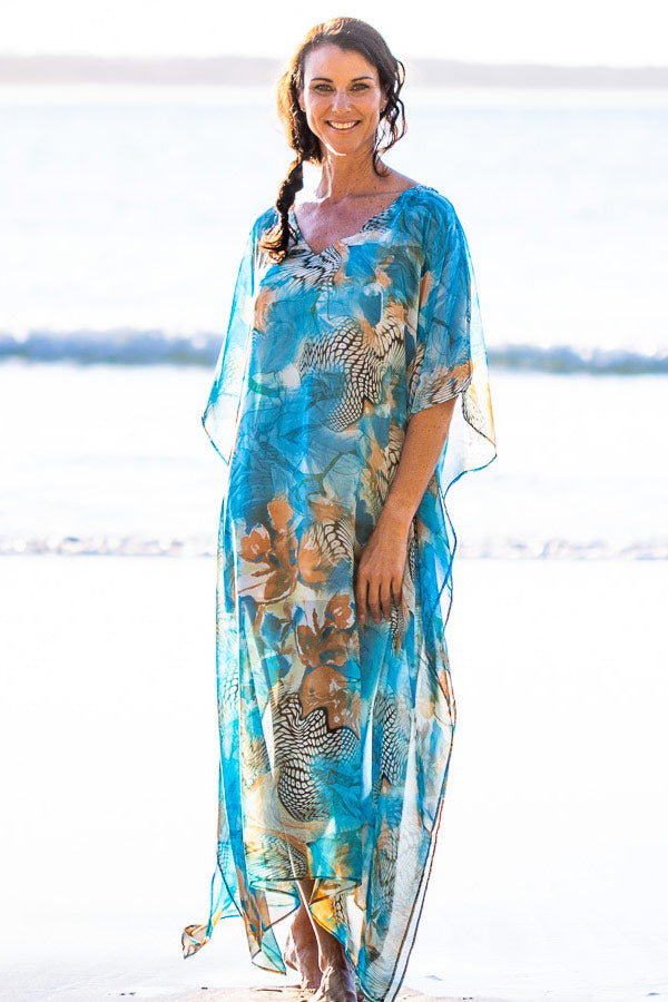 Kaftan Dress Kekaha Beach, Laloom Kaftans