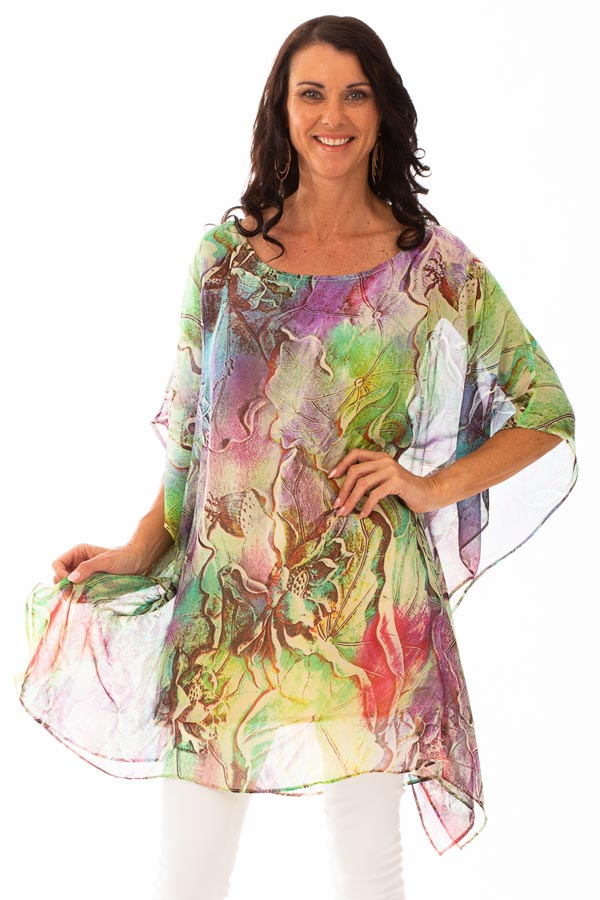 Ko Olina Beach Short Silk Kaftan Dress