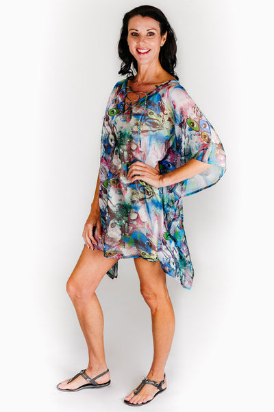 Kurumba Beach L chiffon short kaftan dress