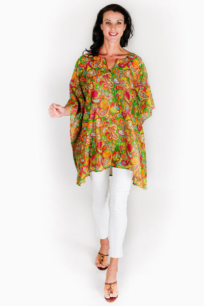 Larvotto Beach kaftan in cotton