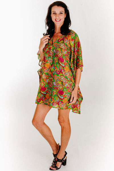 Larvotto Beach short kaftan in cotton